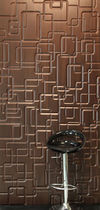 Wood decorative panel / laminate / wall-mounted / 3D