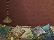 Wall fabric / plain / PVC / fire-rated