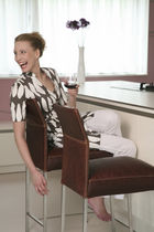 Contemporary bar chair / stainless steel / upholstered / commercial