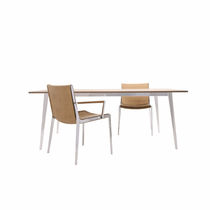 Contemporary dining table / wooden / rectangular / contract