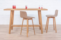 Contemporary high bar table / wooden / solid wood / rectangular