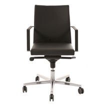 Contemporary office chair / on casters / upholstered / with armrests