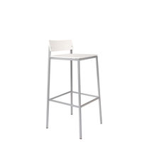Contemporary bar stool / wooden / steel