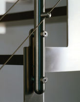 Indoor railing / stainless steel / cable / for stairs
