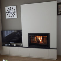 Closed wood hearth / double-sided / 1-sided / steel