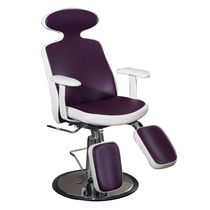 Leather pedicure chair / with footrest / with hydraulic pump / adjustable