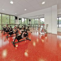 Polyurethane-coated sports flooring / for indoor use / for multipurpose gyms