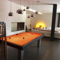 Contemporary pool table / convertible dining tables