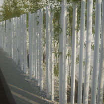 Garden fence / for public spaces / with bars / steel