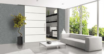 Metal fastening system / for doors / sliding