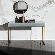 Contemporary sideboard table / glass / metal / wood veneer