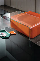 Contemporary coffee table / glass / walnut / wenge