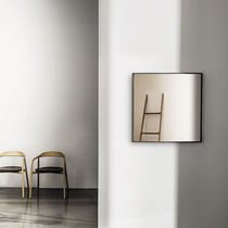 Wall-mounted mirror / contemporary / square / aluminum