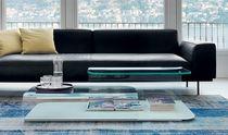Contemporary coffee table / glass / rectangular