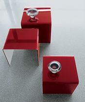 Contemporary nesting tables / glass / rectangular