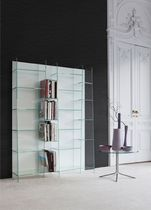 Modular bookcase / contemporary / glass