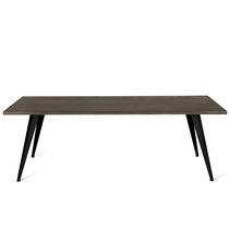 Contemporary dining table / beech / steel / rectangular