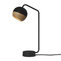 Table lamp / contemporary / steel / oak
