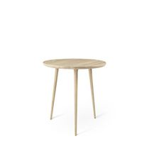 Contemporary dining table / oak / round