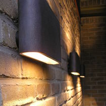 Contemporary wall light / outdoor / aluminum / bronze