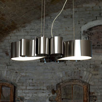 Pendant lamp / original design / stainless steel / handmade