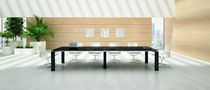 Contemporary side table / wood veneer / rectangular / 100% recyclable