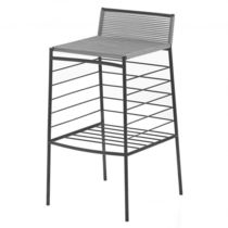 Contemporary bar stool / steel / PVC / commercial
