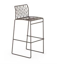 Bar chair / contemporary / metal / commercial