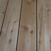 Wooden deck boards / grooved / FSC-certified / commercial