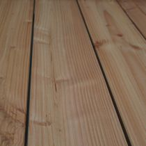 Wooden deck boards / grooved / durable / PEFC-certified