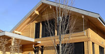 Wooden cladding / grooved / high-gloss / strip
