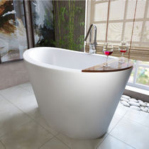 Freestanding bathtub / oval / Solid Surface / stone