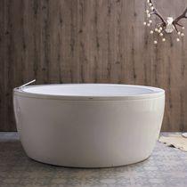 Free-standing bathtub / round / acrylic / double