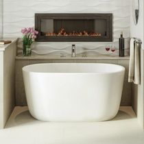 Freestanding bathtub / oval / Solid Surface / deep
