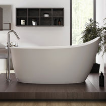 Free-standing bathtub / oval / Solid Surface / stone