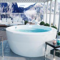 Freestanding bathtub / round / acrylic / deep