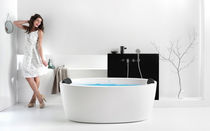 Freestanding bathtub / oval / acrylic / deep