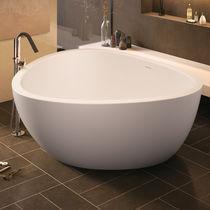 Freestanding bathtub / stone / deep / double