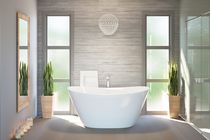 Freestanding bathtub / oval / stone / deep