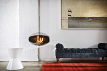 Bioethanol fireplace / contemporary / open hearth / hanging