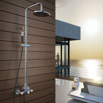 Commercial shower column / with hand shower