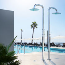 Multi-function outdoor shower / stainless steel / commercial / residential