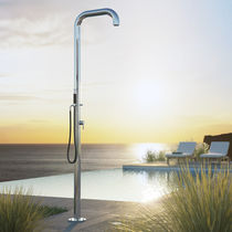 Multi-function outdoor shower / stainless steel / residential / commercial