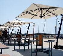 Offset patio umbrella / commercial / aluminum / steel