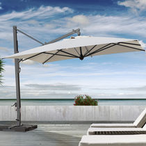 Offset patio umbrella / commercial / fabric / metal