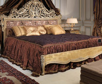 Double bed / Louis XV style / walnut