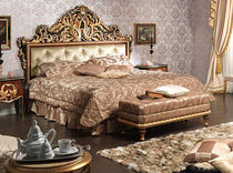 Double bed / Louis XV style / wooden