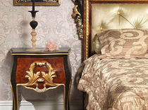 Louis XV style bedside table / wooden / rectangular