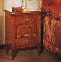 Classic bedside table / walnut / rectangular
