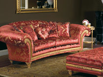 Classic sofa / fabric / 2-seater / red